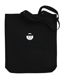 Black Belt In Aerobatics Canvas Tote Bag