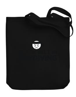 Black Belt In Skydiving Canvas Tote Bag