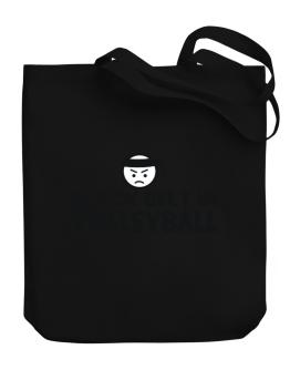 Black Belt In Volleyball Canvas Tote Bag