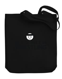 Black Belt In Wrestling Canvas Tote Bag
