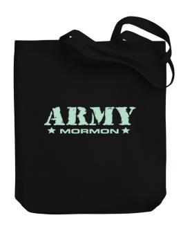 Army Mormon Canvas Tote Bag