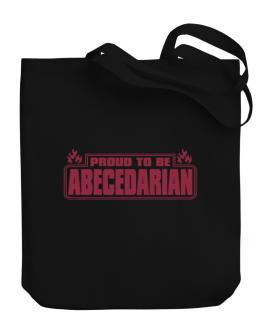 Proud To Be Abecedarian Canvas Tote Bag