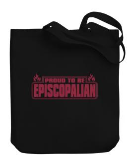 Proud To Be Episcopalian Canvas Tote Bag