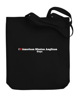 I Love American Mission Anglican Guys Canvas Tote Bag