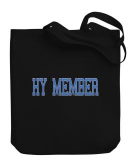 Hy Member - Simple Athletic Canvas Tote Bag