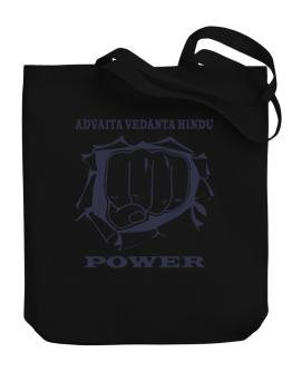 Advaita Vedanta Hindu Power Canvas Tote Bag