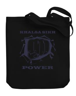 Khalsa Sikh Power Canvas Tote Bag
