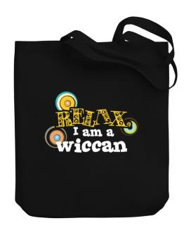 Relax, I Am A Wiccan Canvas Tote Bag