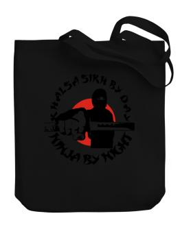 Khalsa Sikh By Day, Ninja By Night Canvas Tote Bag