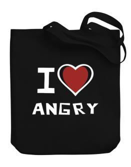 I Love Angry Canvas Tote Bag