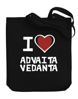 I Love Advaita Vedanta Canvas Tote Bag