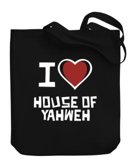 I Love House Of Yahweh Canvas Tote Bag