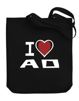 I Love Ao Canvas Tote Bag