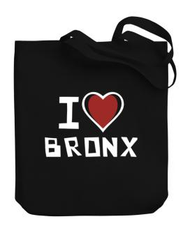 I Love Bronx Canvas Tote Bag