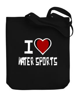 I Love Water Sports Canvas Tote Bag