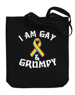 I Am Gay And Grumpy Canvas Tote Bag