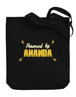 Powered By Ananda Canvas Tote Bag