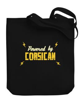 Powered By Corsican Canvas Tote Bag
