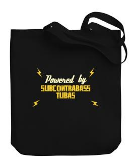 Powered By Subcontrabass Tubas Canvas Tote Bag