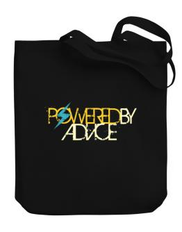 Powered By Advice Canvas Tote Bag
