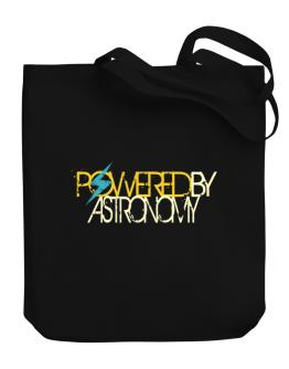 Powered By Astronomy Canvas Tote Bag