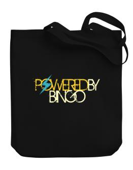 Powered By Bingo Canvas Tote Bag