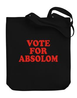 Vote For Absolom Canvas Tote Bag