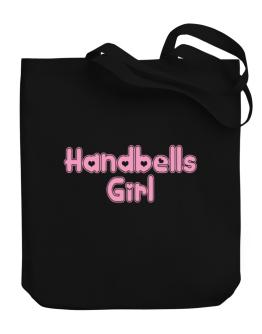 Handbells Girl Canvas Tote Bag