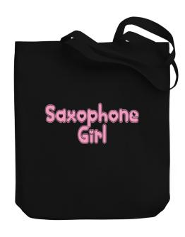Saxophone Girl Canvas Tote Bag