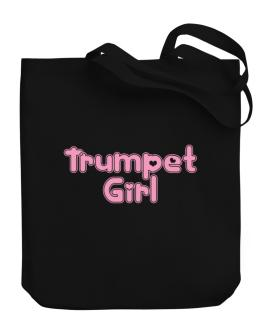 Trumpet Girl Canvas Tote Bag