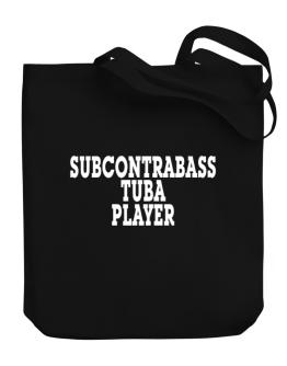 Subcontrabass Tuba Player - Simple Canvas Tote Bag