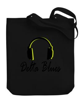 Listen Delta Blues Canvas Tote Bag