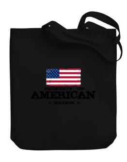 Property of American Nation Canvas Tote Bag