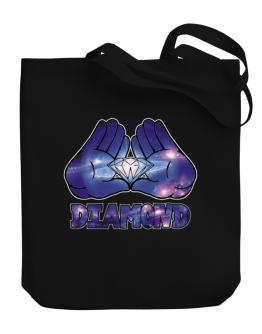 Diamond in hands Canvas Tote Bag