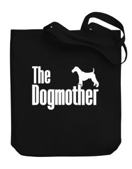 The dogmother Fox Terrier Wire Canvas Tote Bag