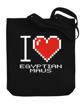 I love Egyptian Maus pixelated Canvas Tote Bag