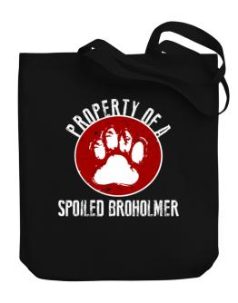 Property of a spoiled Broholmer Canvas Tote Bag