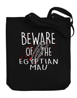 Beware of the Egyptian Mau Canvas Tote Bag