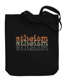 Atheism repeat retro Canvas Tote Bag