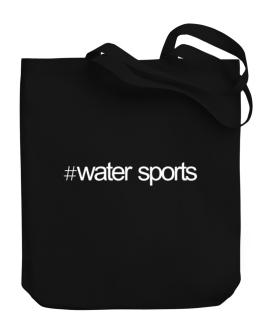 Hashtag Water Sports Canvas Tote Bag