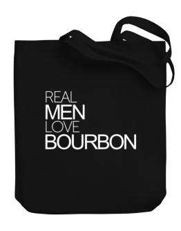 Real men love Bourbon Canvas Tote Bag