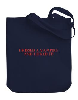 """"""" I Kissed a Vampire """" Canvas Tote Bag"""