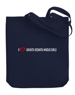 I love Advaita Vedanta Hindus Girls Canvas Tote Bag
