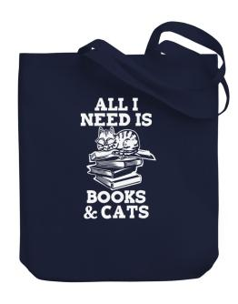 Bolso de All I need is books and cats
