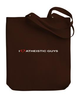 I Love Atheistic Guys Canvas Tote Bag