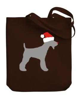 Fox Terrier christmas Canvas Tote Bag