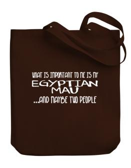 What is important to me is my Egyptian Mau Canvas Tote Bag