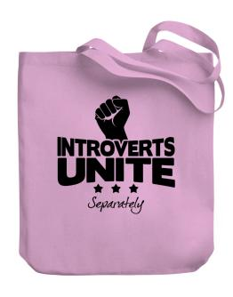 Introverts Unite Separately Canvas Tote Bag