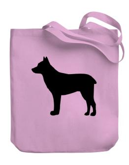 Australian Stumpy Tail Cattle Dog silhouette Canvas Tote Bag