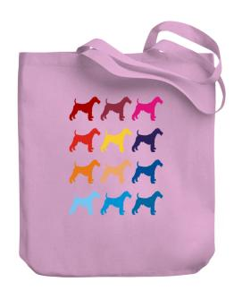 Colorful Fox Terrier Wire Canvas Tote Bag